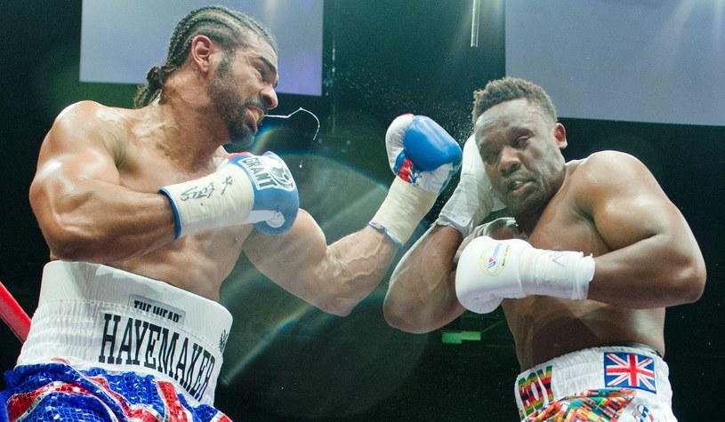 Słynni brytyjscy bokserzy - Dereck Chisora (z prawej) i David Haye /AFP
