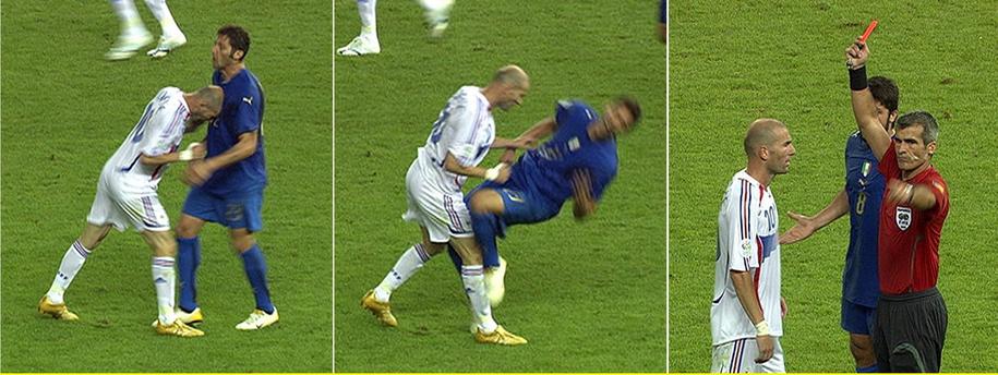 Słynny incydent z udziałem Zidane'a i Materazziego /A9999 DB WDR/WDR /PAP/EPA
