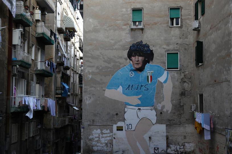 Słynny mural na ścianie budynku w Neapolu /Michael Steele /Getty Images