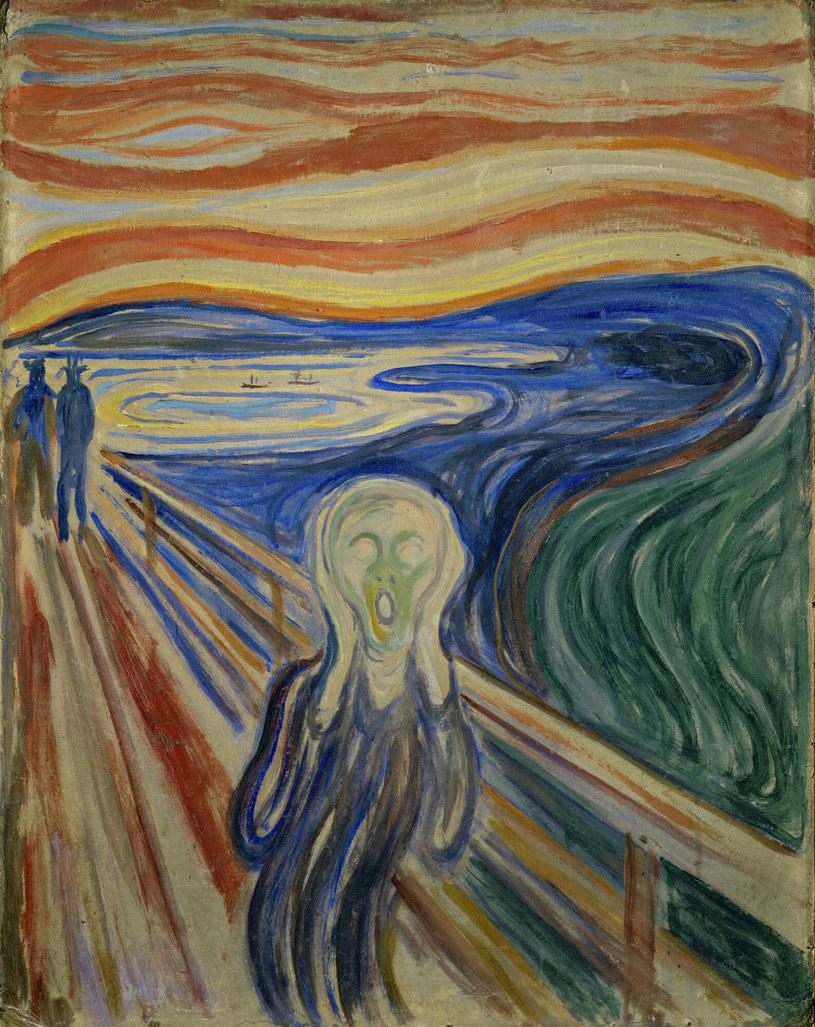 "Słynny obraz Edvarda Muncha ""Krzyk"" /Edvard Munch /East News"