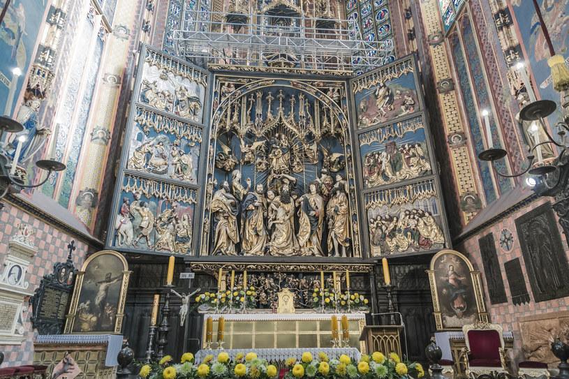 Słynny, otwierany ołtarz autorstwa Wita Stwosza /123RF/PICSEL