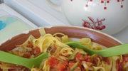 Smaczek na lato - tagliatelle z warzywami