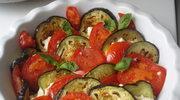 Smaczek na lato - zapiekanka z baklazana i pomidorow z kremem z owczego sera