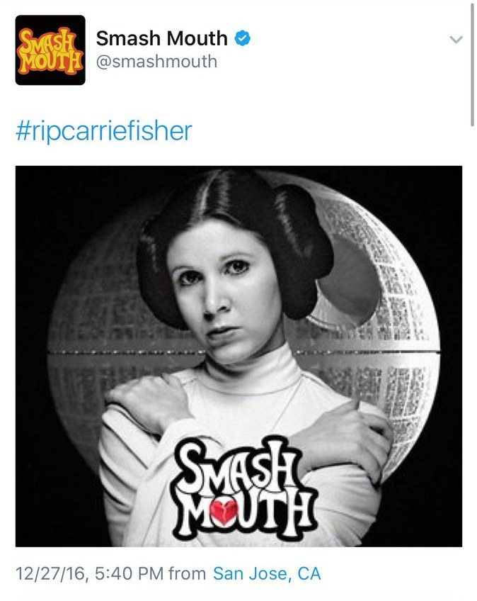 Smash Mouth o Carrie Fisher /