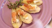 Smażone gruszki z serem pleśniowym