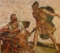 Śmierć Archimedesa, mozaika z Herculanum /Encyklopedia Internautica