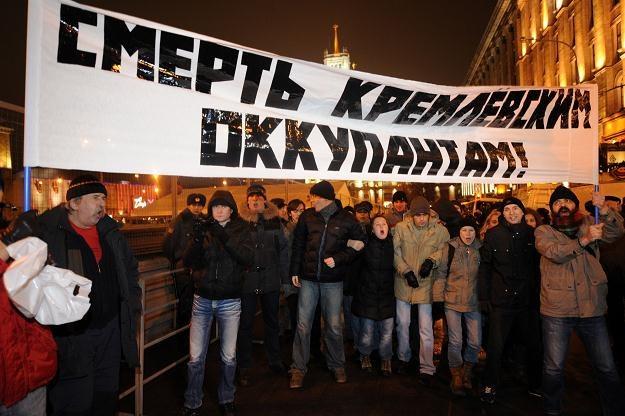"""""""Śmierć kremlowskim okupantom"""" /AFP"""
