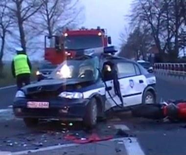 Śmierć motocyklisty i policjanta