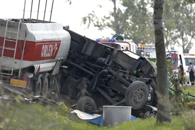 Śmierć ponieśli kierowcy ciężarówek /PAP