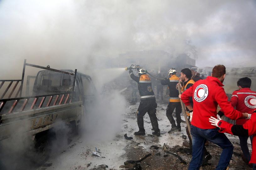 Śmierć poniosło prawie 40 osób /YAHYA NEMAH /PAP/EPA