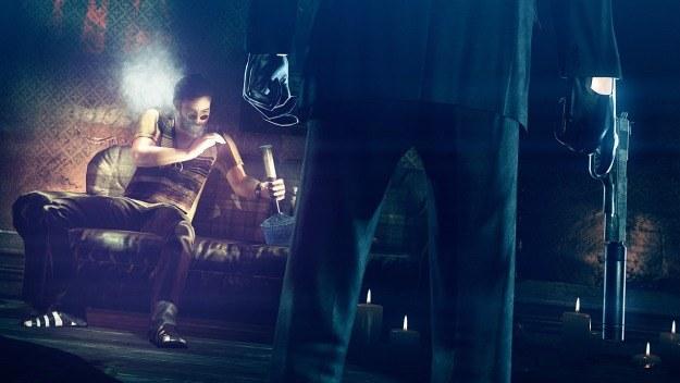 Śmierć z rąk Agenta 47 to podobno przyjemność. Ten jegomość zaraz się o tym przekona... /Informacja prasowa