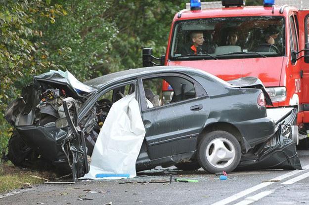 Śmiertelny wypadek na DK 25 /Fot. Kamil Kiedrowski /Reporter