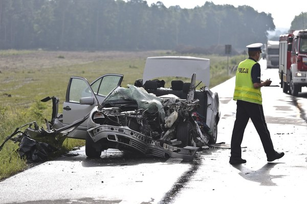 Kobieta i dziecko są ranni, kierowca był wynajęty - jechali na wakacje.
