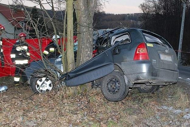 Śmiertelny wypadek w Pstrągowej /KWP Rzeszów
