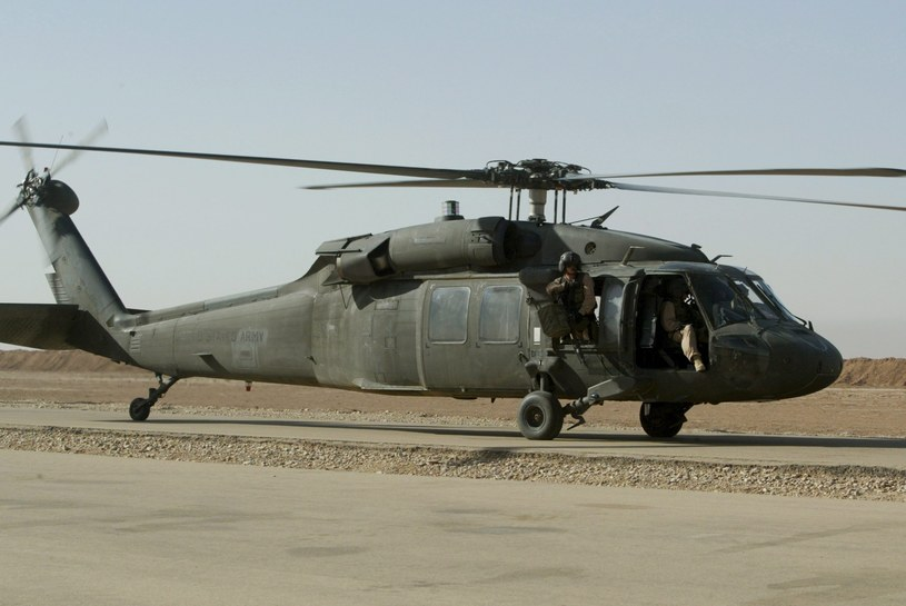 Śmigłowiec Black Hawk Gwardii Narodowej USA /PAP/EPA