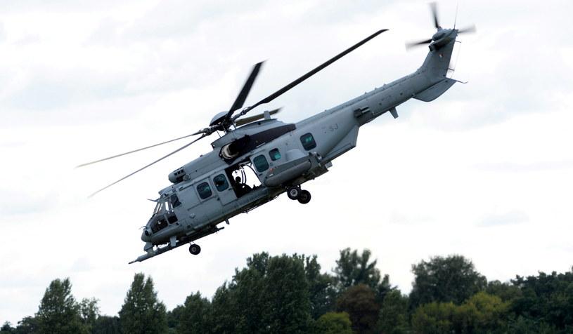 Śmigłowiec Eurocopter EC725, obecnie produkowany pod oznaczeniem H225M przez Airbus Helicopters /Jacek Turczyk /PAP