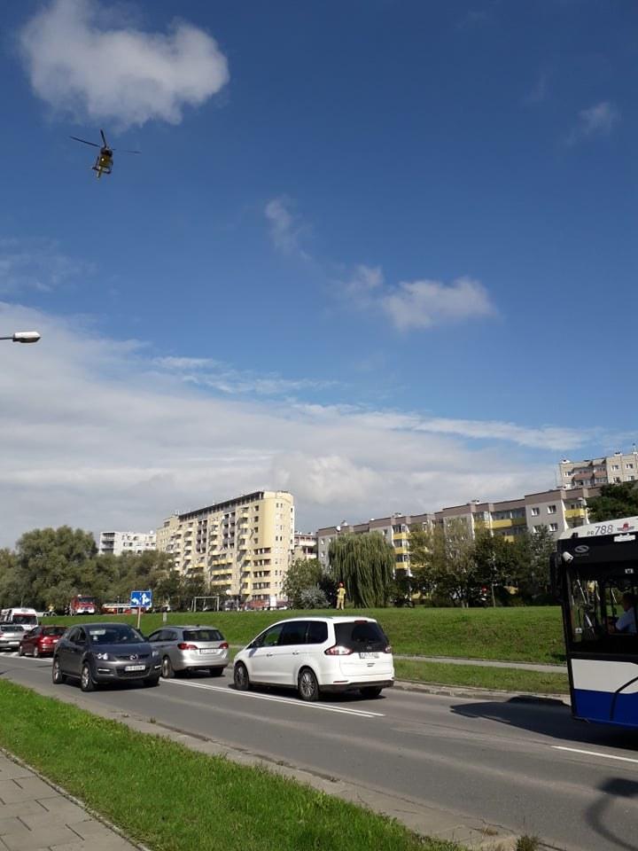 Śmigłowiec LPR na miejscu wypadku, zdjęcie nadesłane przez czytelnika Interii /INTERIA.PL