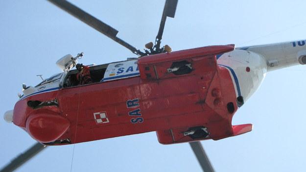 Śmigłowiec Mi-14 podczas ćwiczeń służb ratowniczych w Gdyni /Kuba Kaługa, RMF FM /RMF FM