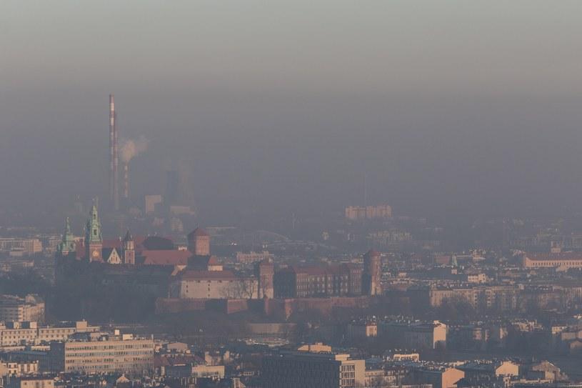 Smog nad Krakowem widziany z Kopca Kościuszki, styczeń 2017 /Jan Graczyński /East News