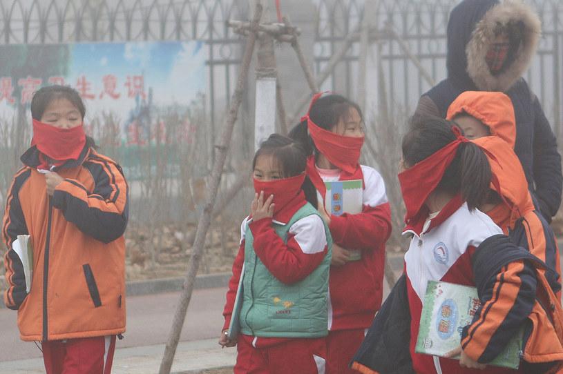 Smog w Chinach /AFP