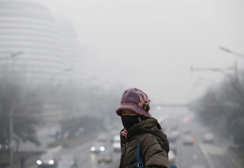 Smog w Pekinie /PAP/EPA