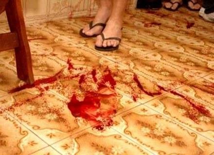 Smugi i kałuże krwi pojawiające się w paranormalny sposób w domu brazylijskich emerytów. /MWMedia