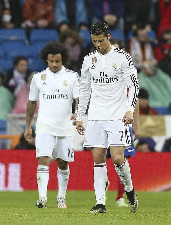 Smutny Cristiano Ronaldo po odpadnięciu z Pucharu Hiszpanii /PAP/EPA