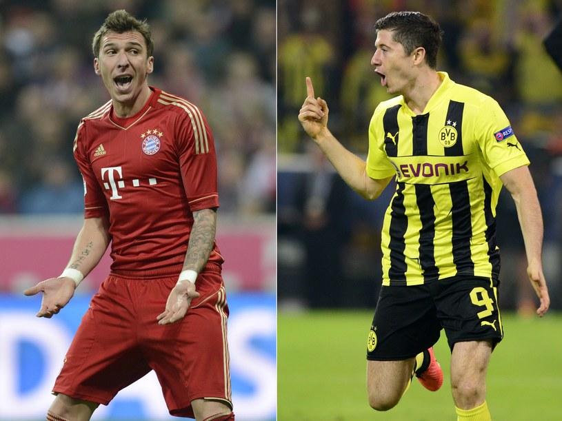 Snajperzy Bayernu i Borussii: Mario Mandżukić i Robert Lewandowski /AFP