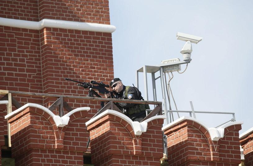Snajperzy na dachu Kremla /PAP/EPA