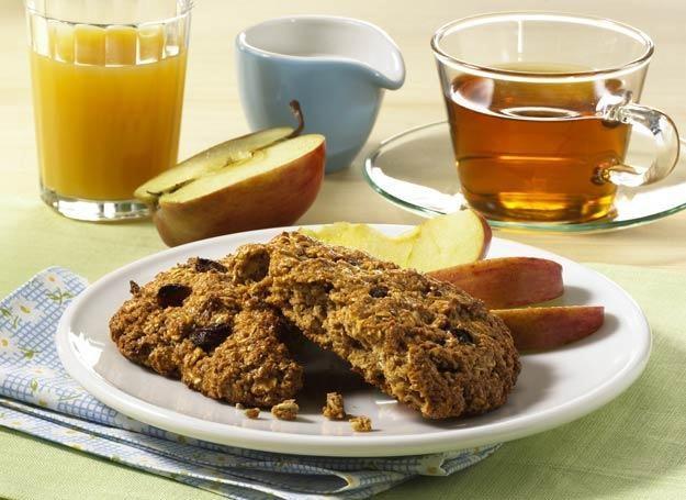 Śniadaniowe ciasteczka owsiane z rodzynkami