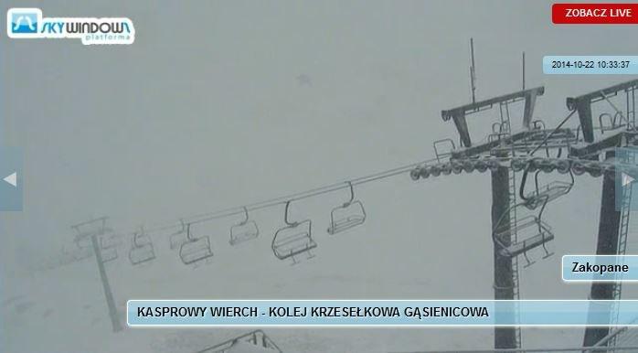 Śnieg na Kasprowym Wierchu /www.pkl.pl /