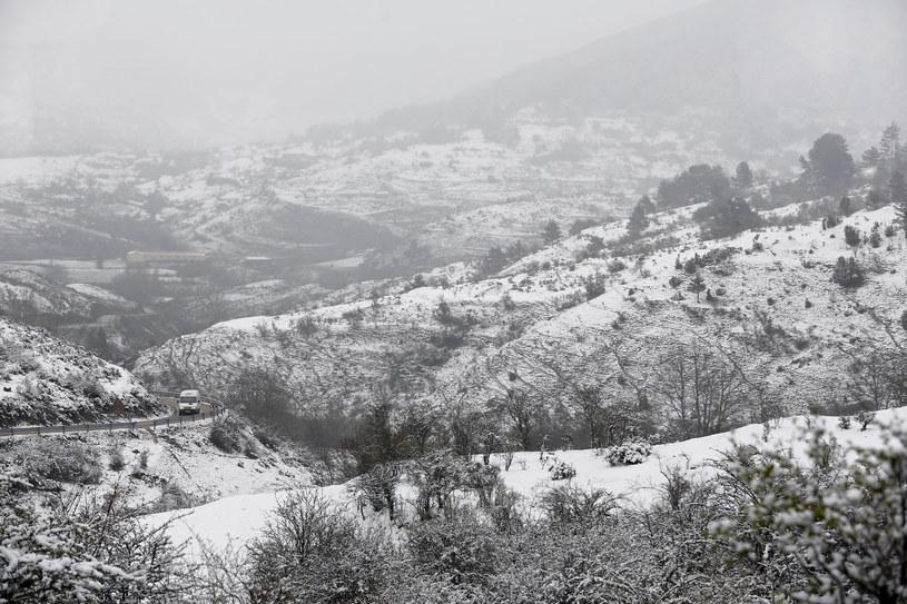 Śnieg spadł w Hiszpanii /AFP