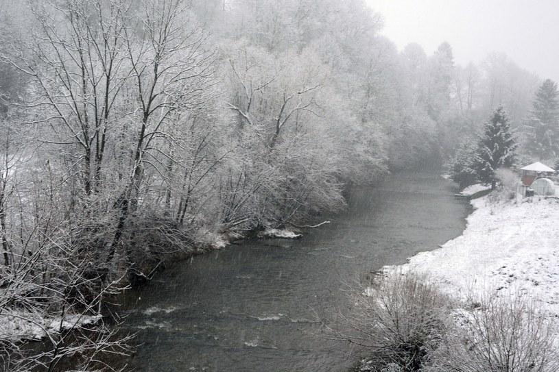 Śnieg w Bieszczadach /Wojciech Zatwarnicki /Reporter