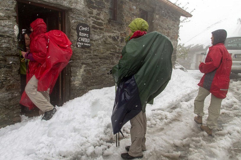 Śnieg w Hiszpanii /PAP/EPA