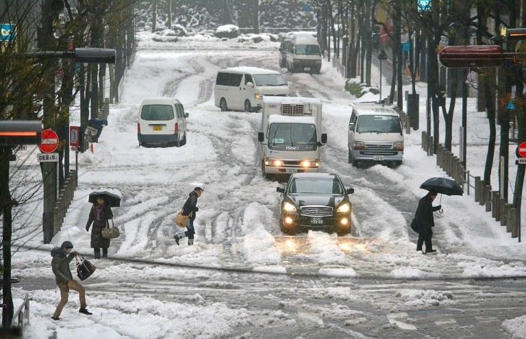 Śnieg w Japonii /AFP