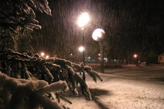 Śnieg w Tatrach, biało w Zakopanem