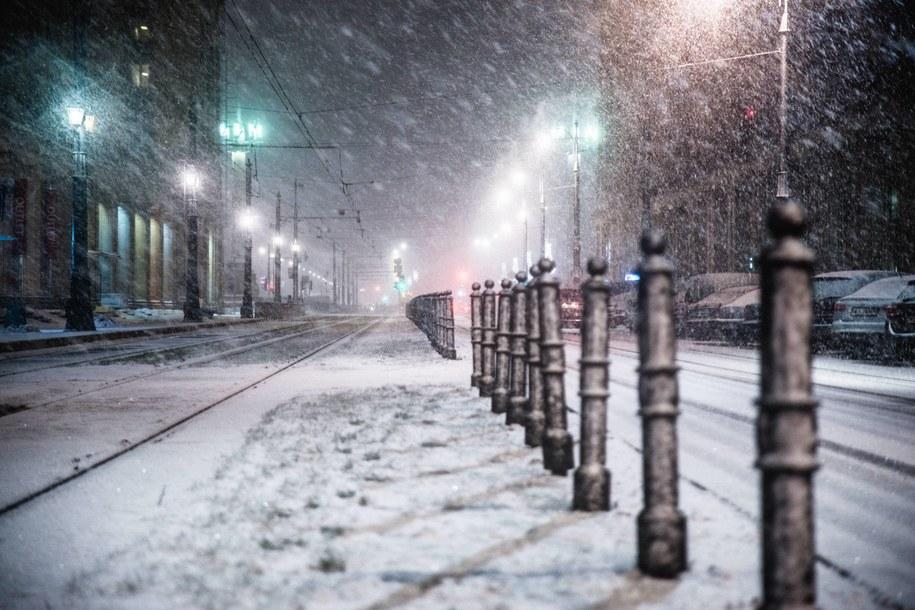 Śnieg w Warszawie /Ioana Catalina Echim / Alamy Stock Photo /PAP/EPA