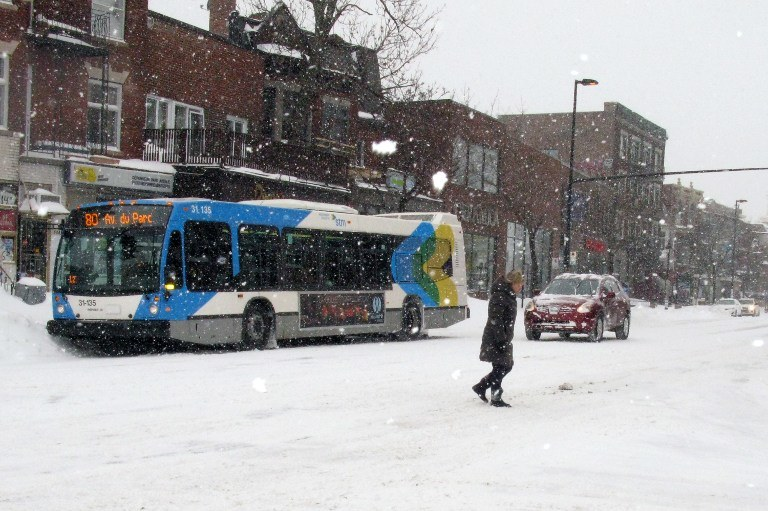 Śnieżyca w Kanadzie /AFP