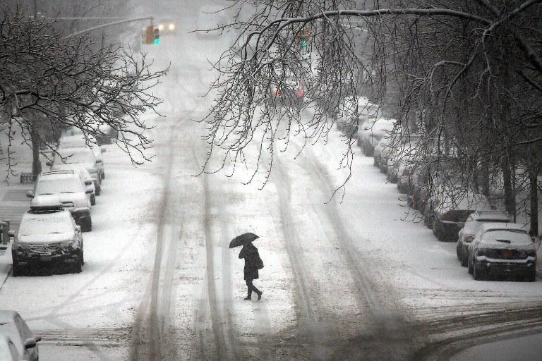 Śnieżyca w Nowym Jorku /AFP
