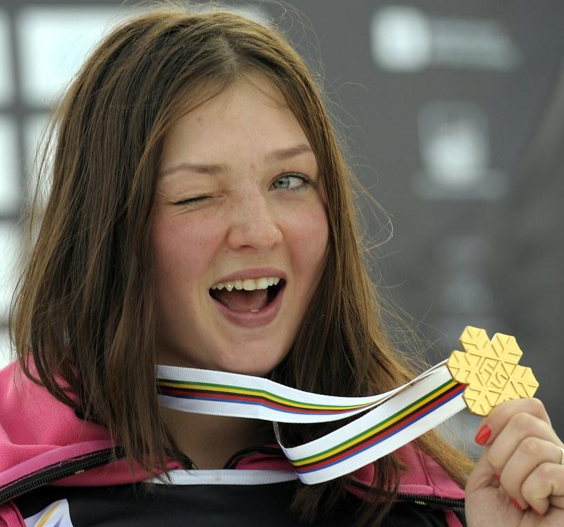 Snowboardzistka Aliona Zawarzina - mistrzyni świata w slalomie równoległym - jest nadzieją Rosjan na sukces olimpijski. /AFP