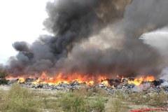 Sobolew: Pożar nielegalnego składowiska odpadów