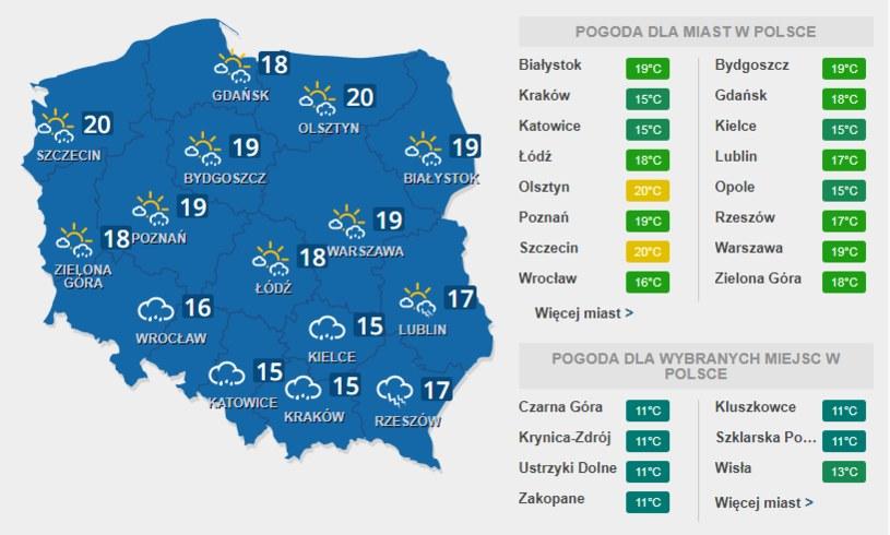 Sobota zapowiada się burzowo dla południowej części Polski /INTERIA.PL