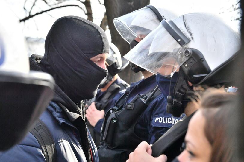 Sobotni protest w Warszawie /Andrzej Lange /PAP