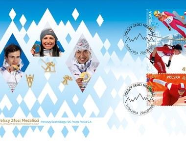 Soczi 2014: polscy złoci medaliści na znaczkach pocztowych