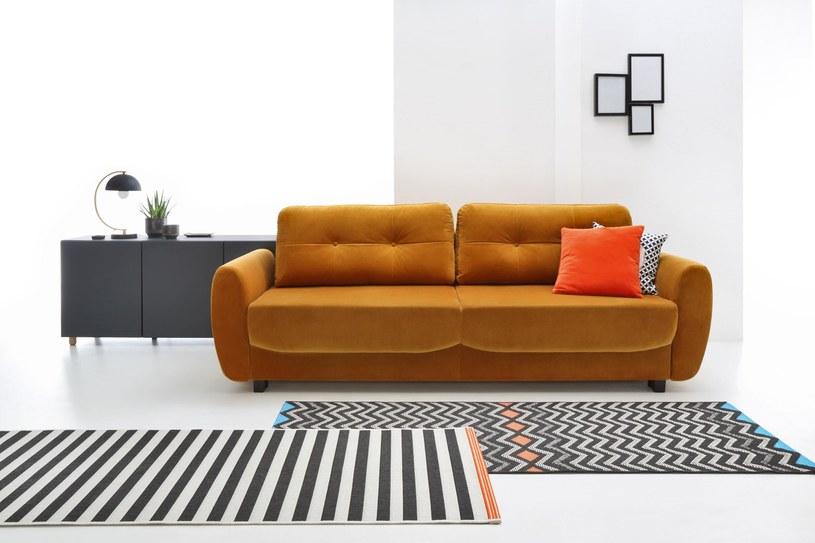 Sofa Hampton, Black Red White /materiały prasowe