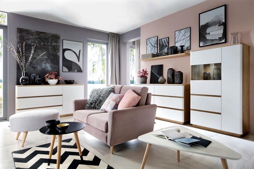 Sofa Maxime, Black Red White /materiały prasowe