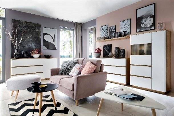Sofa Maxime i pufa Emilly w pastelowych kolorach /materiały promocyjne