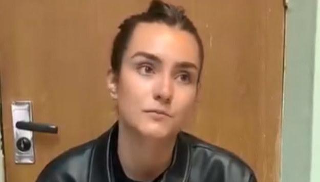 Sofia Sapiega na nagraniu opublikowanym przez prorządowy kanał na Telegramie /Zrzut ekranu