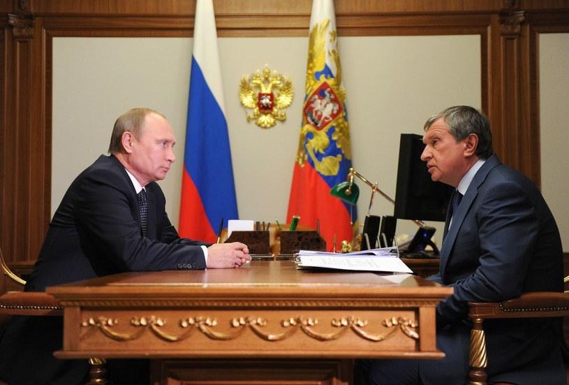 Sojusznik Putina, prezes Rosnieftu, największego rosyjskiego koncernu naftowego Igor Sieczyn. /AFP