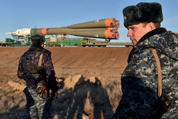 Sojuz przed startem /AFP